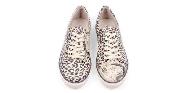 Dámske tenisky s leoparďou potlačou Dogo