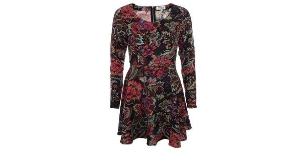 Dámske kvetované šaty s dlhým rukávom Madam Rage