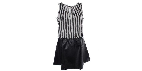 Dámske pruhované šaty s čiernou sukňou Madam Rage