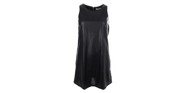 Dámske čierne perforované šaty Madam Rage