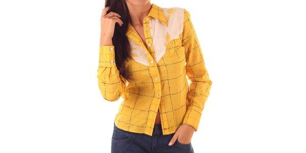 Dámska žlto-ružová košeľa Custo Barcelona