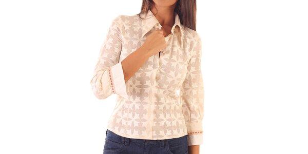 Dámska ružová košeľa so vzorom Custo Barcelona