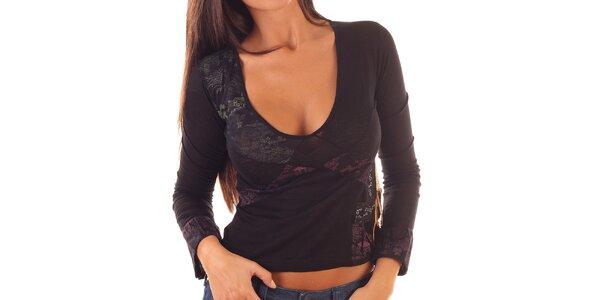 Dámske kratšie tričko s dlhým rukávom Custo Barcelona