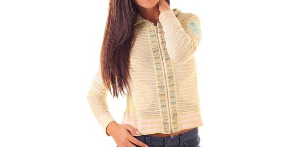 Dámsky svetlý sveter s prúžkami Custo Barcelona