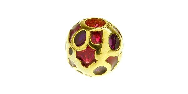 Dámska fialová korálka s kolieskami Bacio