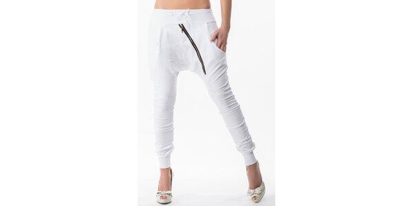 Dámske turecké nohavice v bielej farbe Sixie