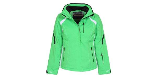Dámska svetlo zelená lyžiarska bunda Bergson