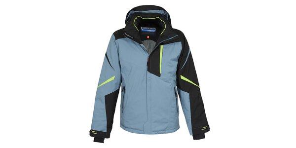 Pánska modro-čierna lyžiarska bunda Bergson