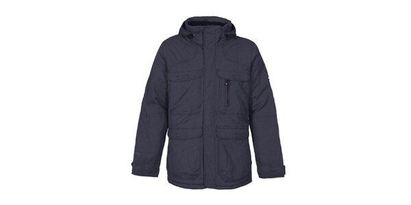 Pánska tmavo modrá funkčná bunda s kapucňou Bergson