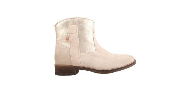 Dámske svetlo béžové členkové topánky Les Tropezienne