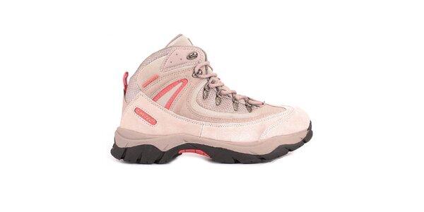 Dámske ružové členkové topánky Hi-Tec