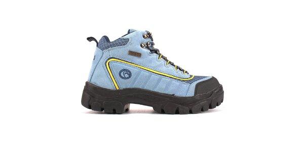 Dámske svetlo modré členkové topánky Campri
