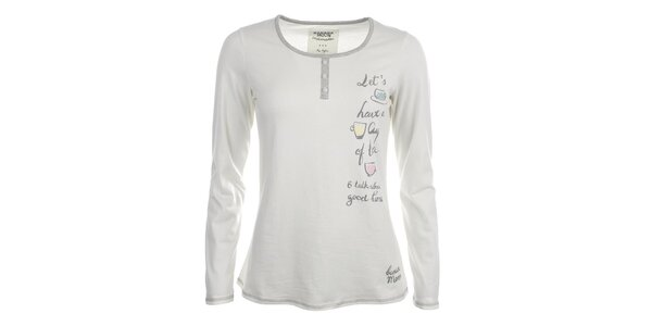 Dámske biele pyžamové tričko s nápisom Banana Moon