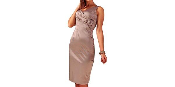 Dámske šaty s kvetinou Vera Fashion