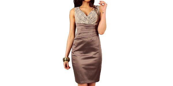 Dámske šaty so skladmi v páse Vera Fashion