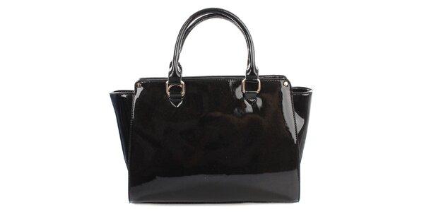 Dámska lesklá čierna kabelka Gessy