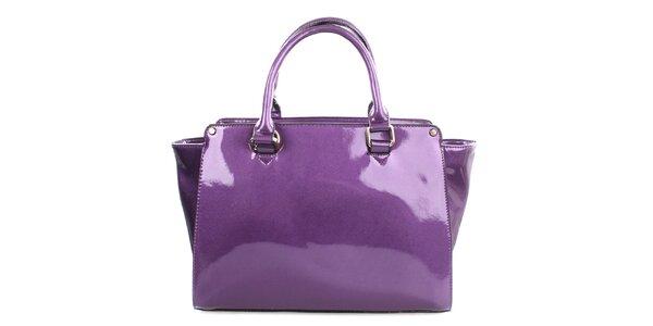 Dámska lesklá fialová kabelka Gessy