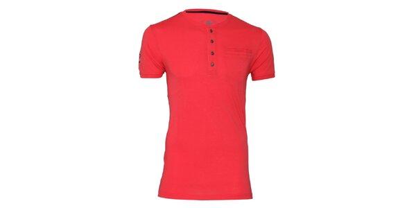 Pánske korálové tričko s gombíkmi Paul Stragas
