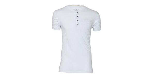 Pánske biele tričko s gombíkmi Paul Stragas