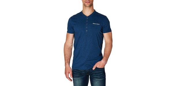 Pánske tmavo modré tričko s krátkym rukávom Paul Stragas
