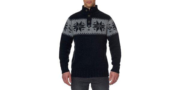68e18b770681 Pánsky antracitový sveter so stojáčikom Paul Stragas