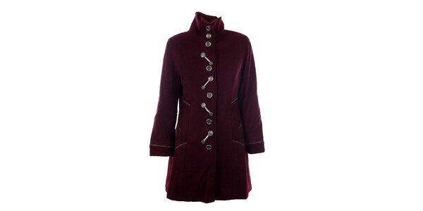 Dámsky bordó kabát DY Dislay Design