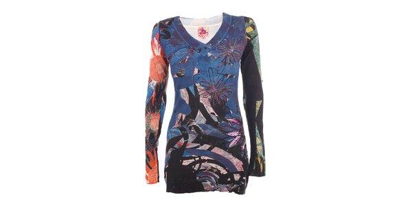 Dámsky sveter s farebnou potlačou DY Dislay Design
