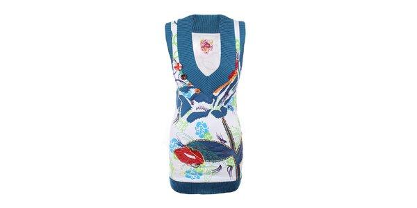 Dámska pestrofarebná tunika bez rukávov Dislay DY Design