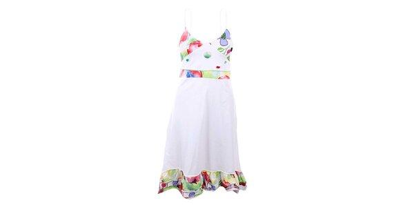 Dámske biele šaty so vzormi Dislay DY Design