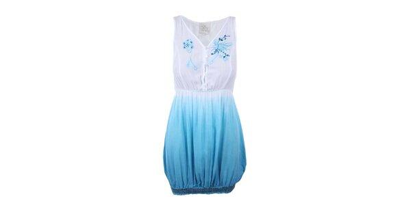 Dámska bielo-modrá tunika bez rukávov Dislay DY Design
