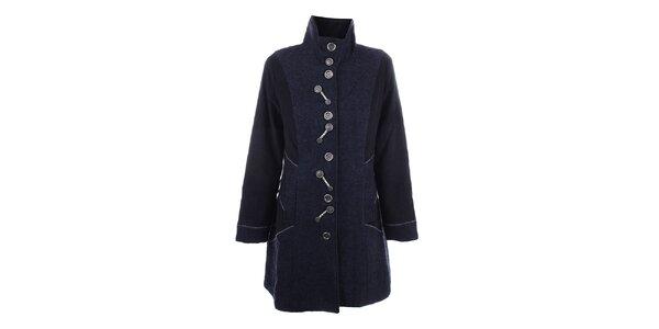 Dámsky tmavo modrý kabát s gombíkmi Dislay DY Design