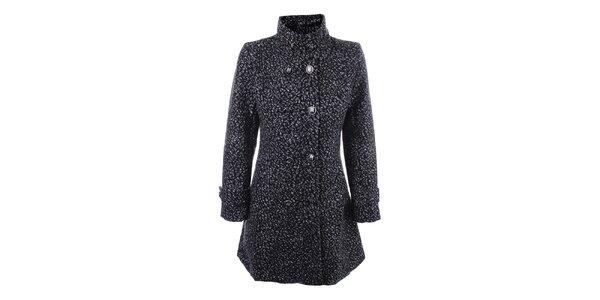 Dámsky šedo-čierny dvojradový kabát Dislay DY Design