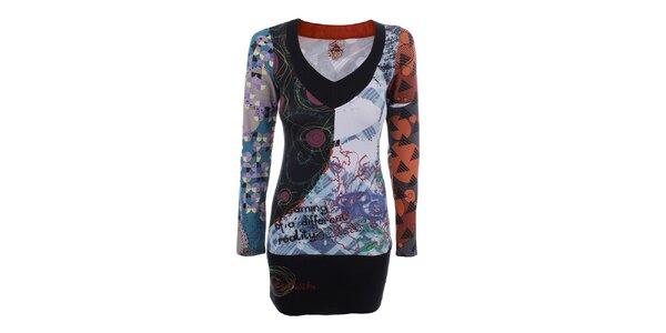 Dámske bavlnené šaty s farebnou potlačou Dislay DY Design