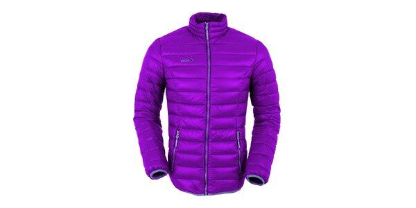 Dámska fialová páperová bunda s tmavo fialovými prvkami Izas