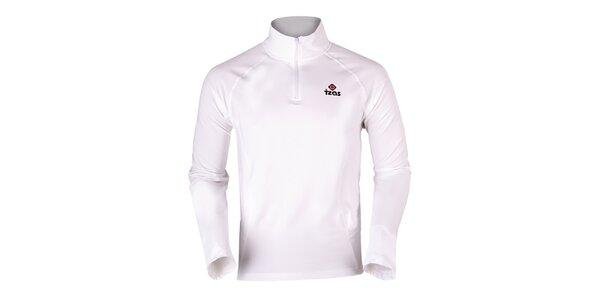 Pánske biele termo tričko s dlhým rukávom Izas