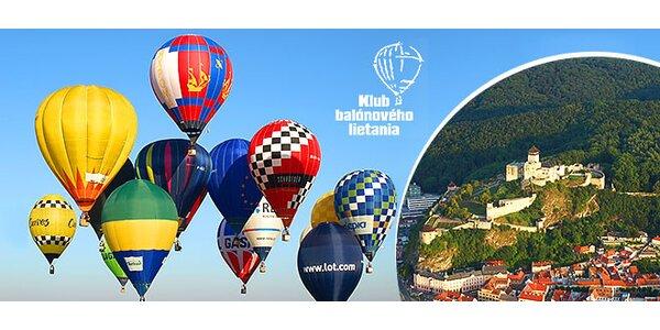 Let teplovzdušným balónom pre 1 alebo 2 osoby
