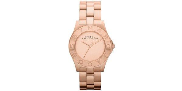 Dámske oceľové hodinky vo farbe ružového zlata Marc Jacobs