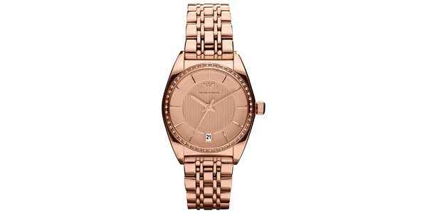 Dámske hodinky Emporio armani vo farbe ružového zlata