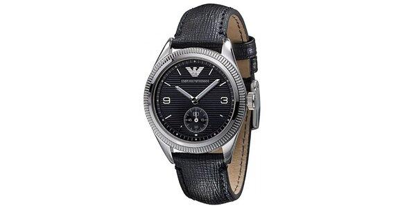 Dámske čierne hodinky Emporio Armani
