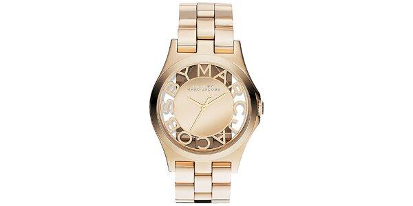 Dámske pozlátené hodinky Marc Jacobs