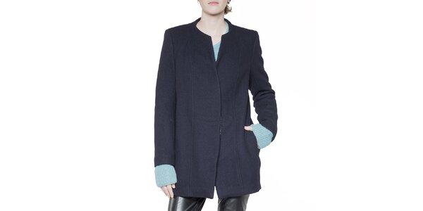 Dámsky tmavo modrý krátky kabát Gene