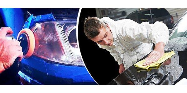 Leštenie plastových svetlometov alebo leštenie celého automobilu