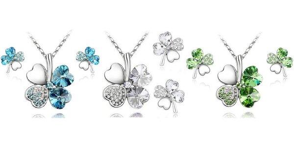 Súprava šperkov so Swarovského komponentmi - štvorlístok