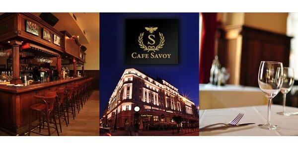9,99 eur za kráľovské menu v Cafe Savoy s 54 % zľavou.