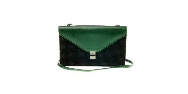 Dámska čierno-zelená kabelka Luna Llena
