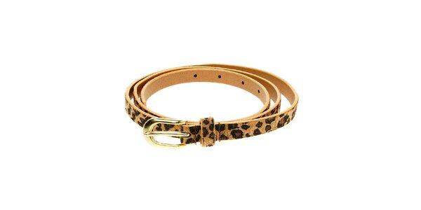 Dámsky hnedý leopardí opasok Luna Llena