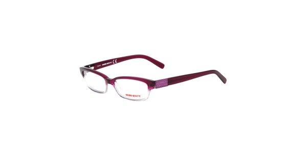 Dámske fialové transparentné okuliare Miss Sixty