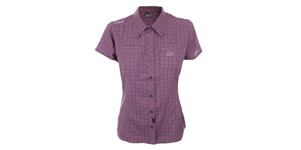 Dámska fialovo kockovaná košeľa Hannah
