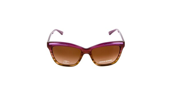 Fialovo-hnedé slnečné okuliare Sonia Rykiel