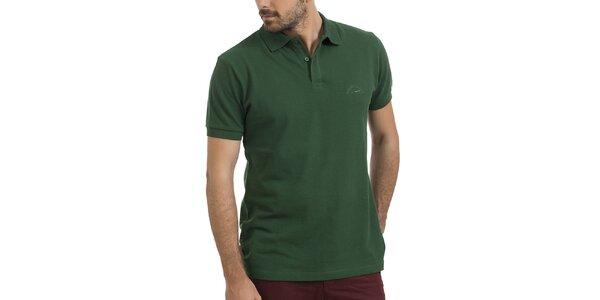 Pánske zelené polo tričko s krátkym rukávom Giorgio Valenti